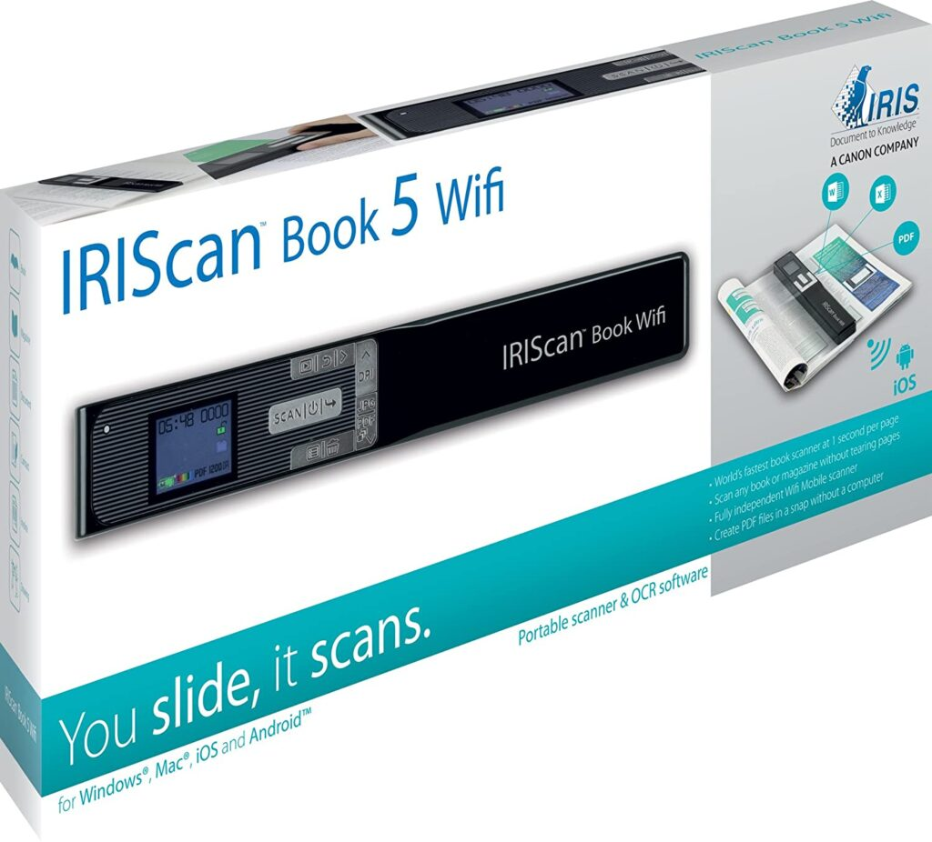 scanner portable WiFi IRIScan Book 5
